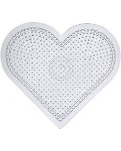 Plaque à perles, H: 15 cm, transparent, 10 pièce/ 1 Pq.