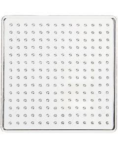 Plaque à picots, dim. 7x7 cm, transparent, 1 pièce