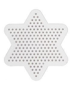 Plaque à picots, d: 10 cm, transparent, 1 pièce