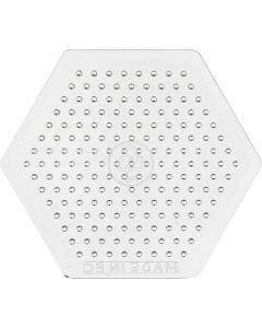 Plaque à picots, H: 7,5 cm, transparent, 1 pièce