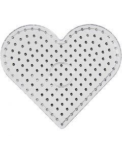 Plaque à picots, JUMBO - coeur, JUMBO, transparent, 1 pièce