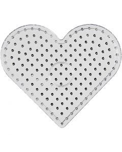 Plaque à picots, JUMBO - coeur, JUMBO, transparent, 5 pièce/ 1 Pq.