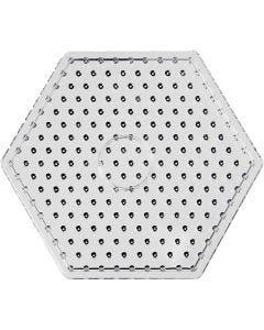 Plaque à picots, JUMBO - héxagone, JUMBO, transparent, 1 pièce