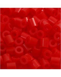 Photo Pearls, dim. 5x5 mm, diamètre intérieur 2,5 mm, rouge clair (19), 1100 pièce/ 1 Pq.