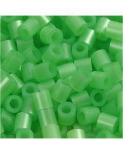 Photo Pearls, dim. 5x5 mm, diamètre intérieur 2,5 mm, vert nacre (22), 6000 pièce/ 1 Pq.