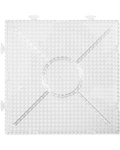Plaque Nabbi, dim. 15x15 cm, transparent, 2 pièce/ 1 Pq.
