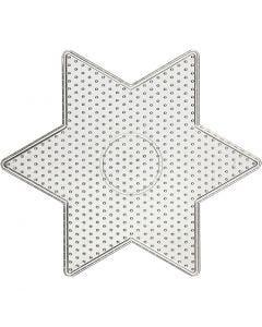 Plaque à picots, dim. 15x15 cm, transparent, 1 pièce