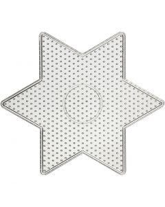 Plaque à picots, big star, dim. 15x15 cm, 10 pièce/ 1 Pq.