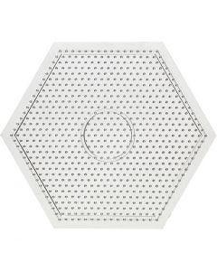 Plaque Nabbi, dim. 15x15 cm, transparent, 1 pièce
