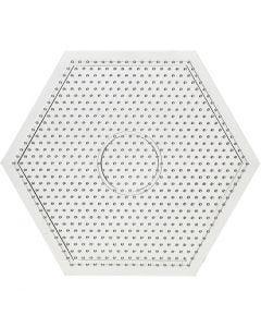 Plaque à picots, grand hexagone, dim. 15x15 cm, 10 pièce/ 1 Pq.
