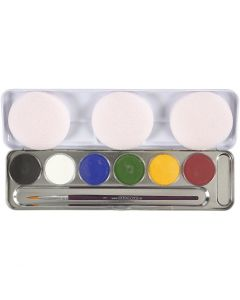 Maquillage visage à base d'eau, couleurs assorties, 6 couleur/ 1 set