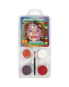 Eugelspiegel Maquillage visage, Oiseau de Paradis, couleurs assorties, 1 set