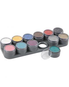 Palette de maquillage pour visage à base d'eau, couleurs assorties, 12x15 ml/ 1 pièce