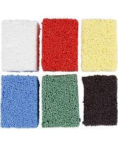 Soft Foam, couleurs classiques, 6x10 gr/ 1 Pq.