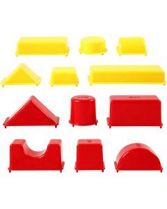Moules de coulage, Géométrique, dim. 3,5-9,5 cm, 12 pièce/ 1 Pq.