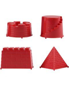 Moules de coulage, château, dim. 5,5-8,5 cm, 4 pièce/ 1 Pq.