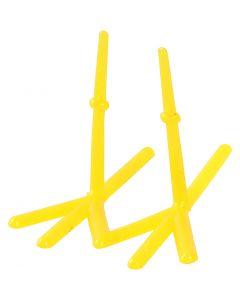 Pattes de poules, H: 28 mm, L: 37 mm, jaune, 50 pièce/ 1 Pq.