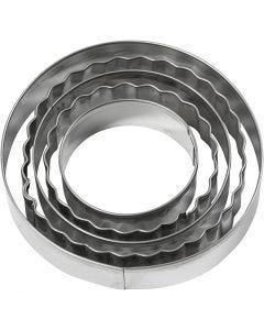Emporte-pièces, cercle, dim. 8 cm, 5 pièce/ 1 Pq.