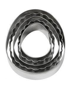 Emporte-pièces, oeuf, dim. 8 cm, 5 pièce/ 1 Pq.