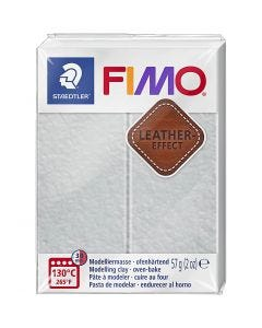 Pâte FIMO® effet cuir, dove grey (809), 57 gr/ 1 Pq.