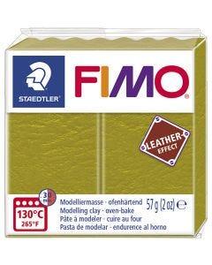 Pâte FIMO® effet cuir, olive (519), 57 gr/ 1 Pq.