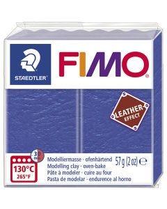 Pâte FIMO® effet cuir, indigo (309), 57 gr/ 1 Pq.