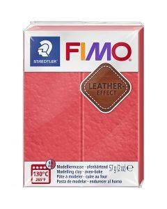 Pâte FIMO® effet cuir, watermelon (249), 57 gr/ 1 Pq.