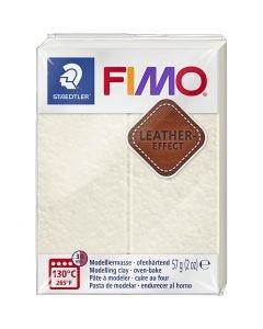 Pâte FIMO® effet cuir, Ivory (029), 57 gr/ 1 Pq.