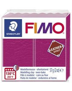 Pâte FIMO® effet cuir, berry (229), 57 gr/ 1 Pq.