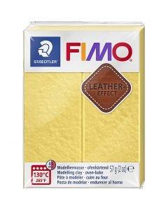Pâte FIMO® effet cuir, saffran yellow (109), 57 gr/ 1 Pq.