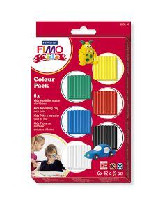 Pâte pour enfant FIMO®, couleurs classiques, 6x42 gr/ 1 Pq.