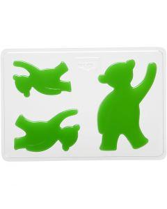 Moule décoratif, ours, H: 6+8+10 cm, dim. 14,9x22 cm, 1 pièce