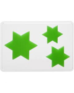 Moule décoratif, étoile, H: 6+8+10 cm, dim. 14,9x22 cm, 1 pièce