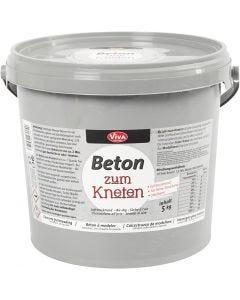 Béton à modeler, gris, 5000 gr/ 1 Pq.