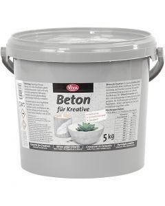 Effet béton, gris, 5000 gr/ 1 Pq.