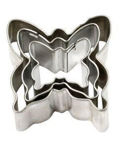 Emporte-pièces, Papillon, dim. 40x40 mm, 3 pièce/ 1 Pq.