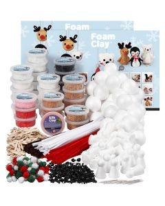 Set de fabrication Foam Clay, couleurs assorties, 1 set