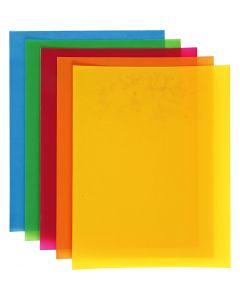 Feuilles de plastique thermorétractable, 10 flles/ 1 Pq.