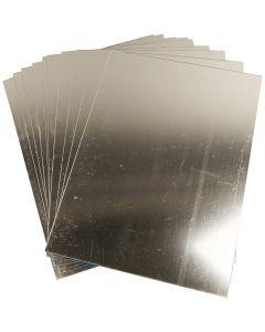 Miroir en plastique, 29,5x21 cm, ép. 1,1 mm, 10 flles/ 1 Pq.