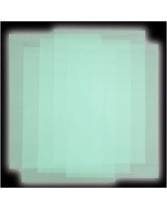 Feuilles de plastique thermorétractable, 5 flles/ 1 Pq.