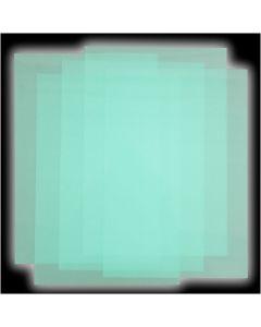 Feuilles de plastique thermorétractable, 50 flles/ 1 Pq.