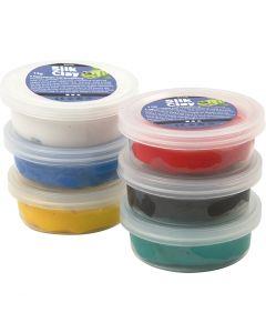 Silk Clay®, couleurs assorties, 6x14 gr/ 1 Pq.