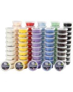 Silk Clay®, couleurs assorties, 10x10 boîte/ 1 Pq.