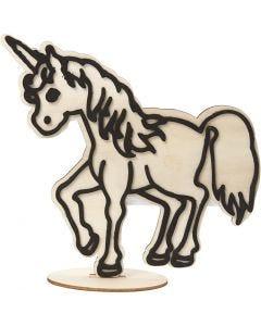 Figurine décorative, Licorne, H: 19 cm, 1 pièce