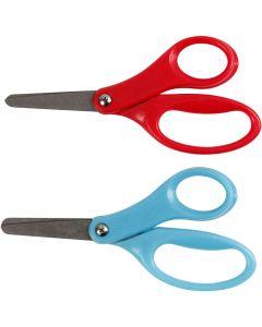 Ciseaux enfants, L: 13 cm, droitier, bleu, rouge, 12 pièce/ 1 Pq.