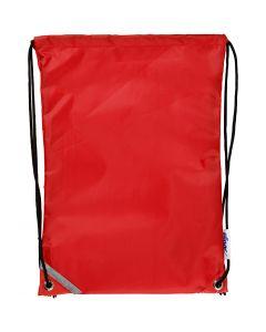 Sac à dos, dim. 31x44 cm, rouge, 1 pièce