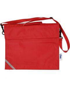 Cartable, prof. 6 cm, dim. 36x31 cm, rouge, 1 pièce