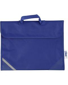 Cartable, prof. 9 cm, dim. 36x29 cm, bleu, 1 pièce