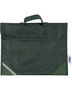 Cartable, prof. 9 cm, dim. 36x29 cm, vert, 1 pièce