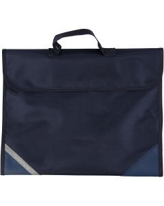 Cartable, prof. 9 cm, dim. 36x29 cm, bleu foncé, 1 pièce